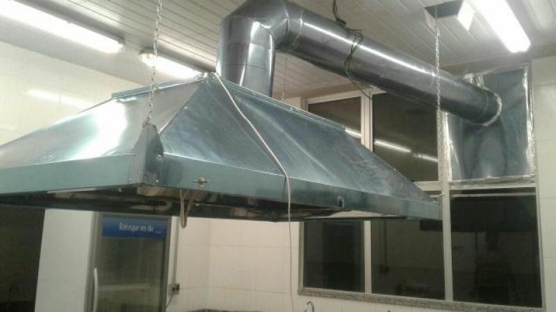 Coifas de Inox com Exaustores Água Funda - Coifa de Aço Inox Industrial