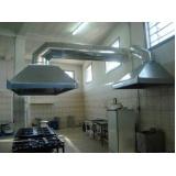 coifa para cozinhas industriais Jaguaré