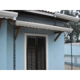 instalação de calha em telhado preço Alphaville