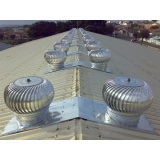 exaustor eólico de alumínio