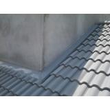 instalação de rufo em telhado preço Brás