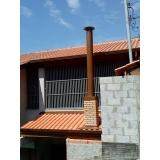 instalação de tubulação para chaminé de churrasqueira valor Vila Prudente